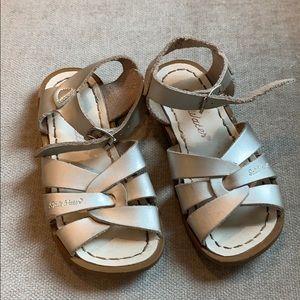 Silver Saltwater Sandals